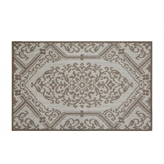 Home Dynamix Cafe Jardin Beige/Brown 23.6 in. x 35.4 in. Scatter Mat