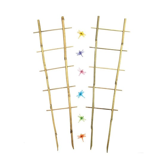 Better-Gro 26-1/2 in. Bamboo Orchid Trellis with Decorative Clips (2-Pack)
