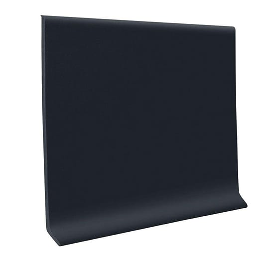 ROPPE Rubber Black 4 in. x 1/8 in. x 48 in. Wall Cove Base (30-Pieces)