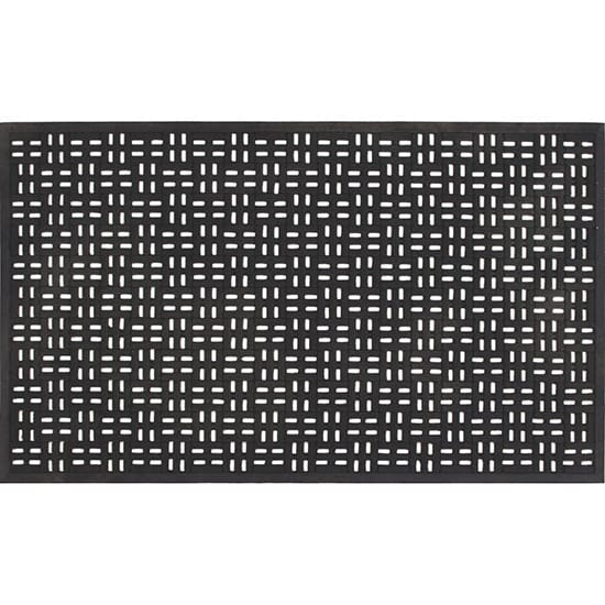 TrafficMASTER Black 22 in. x 36 in. Rubber Door Mat
