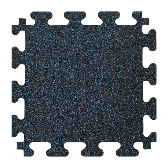 TrafficMASTER Black with Blue Flecks 37 in. x 56 in. x 8 mm Rubber Weight Room Tiles (14.32 sq. ft. / box)
