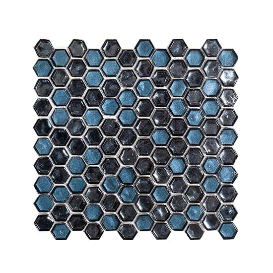 Jeffrey Court Mermaid Lagoon 10-7/8 in. x 11-3/8 in. x 6 mm Glass Mosaic Tile
