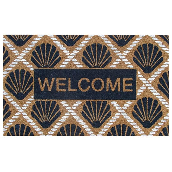 TrafficMASTER Seaside Shells Welcome Multi 18 in. x 30 in. Coir Door Mat