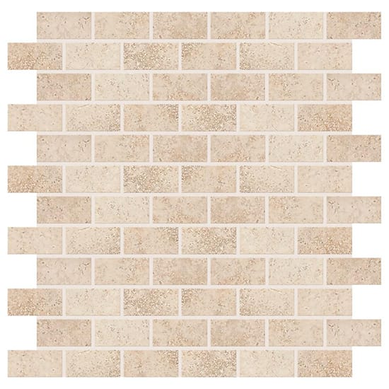 Daltile Briton Bone 12 in. x 12 in. x 8 mm Ceramic Mosaic Floor and Wall Tile (1 sq. ft. / piece)