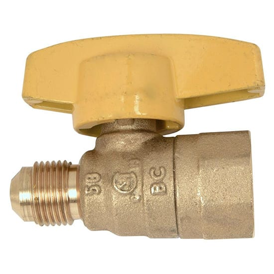 BrassCraft 3/8 in. O.D. Flare x 1/2 in. FIP Gas Ball Valve