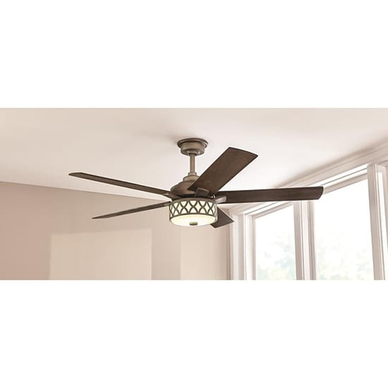 Home Decorators Collection Wynn 54 in. Integrated LED Indoor Heritage Bronze Ceiling Fan with Light Kit with Remote Control