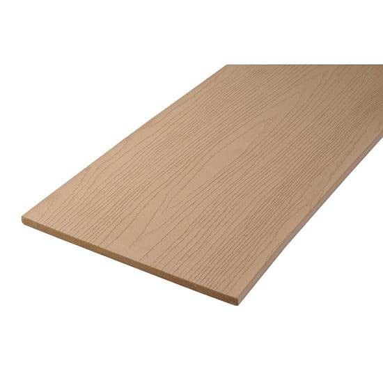 TimberTech AZEK Harvest Collection 0.56 in. x 11-3/4 in. x 12 ft. Brownstone PVC Fascia Decking Board