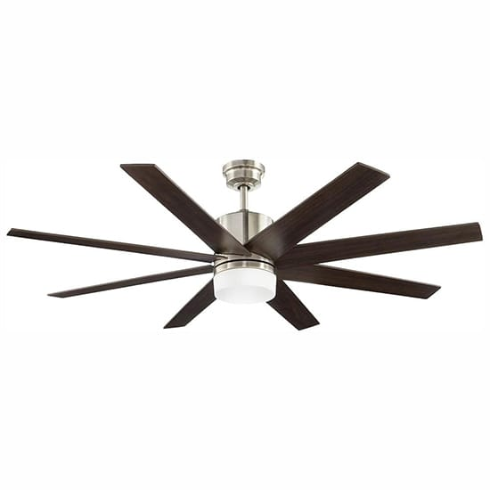Home Decorators Collection 60 in. Indoor Zolman Pike Integrated LED DC Brushed Nickel Ceiling Fan with Light Kit and Remote Control