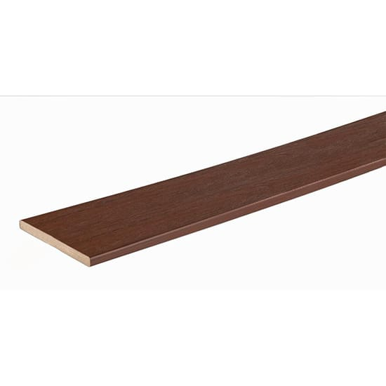 TimberTech PRO Tropical Collection 9/16 in. x 7-1/4 in. x 12 ft. Caribbean Redwood Capped Riser Composite Decking Board
