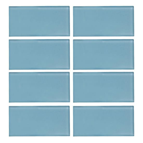 Jeffrey Court Caribbean Water Gloss 3 in. x 6 in. x 8 mm Glass Wall Tile (8-Pieces/Pack)