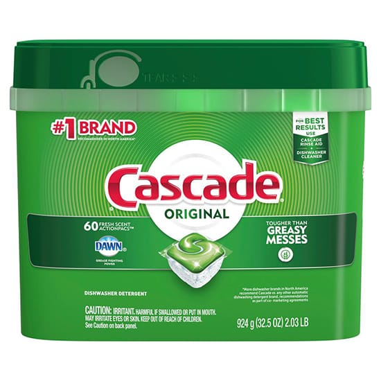 Cascade ActionPacs Fresh Scent Dishwasher Detergent with Dawn (60-Count)
