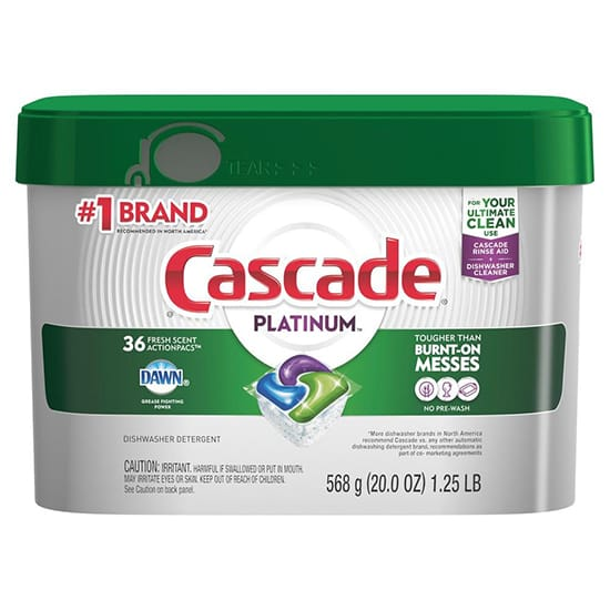 Cascade Platinum ActionPacs Fresh Scent Dishwasher Detergent with Dawn (36-Count)