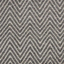 Natural Harmony Ziggy Charcoal Custom Area Rug with Pad