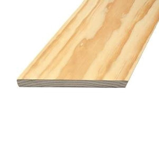 Claymark 1 in. x 8 in. x 6 ft. Select Radiata Square Edge Pine Board