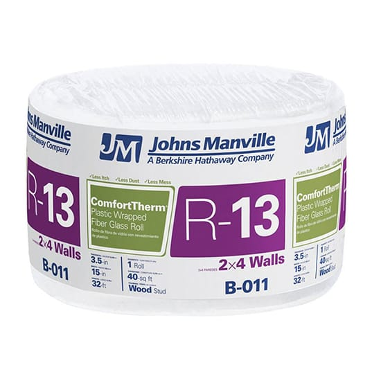 R-13 ComfortTherm Poly Faced Fiberglass Insulation Roll 15 in. x 32 ft.