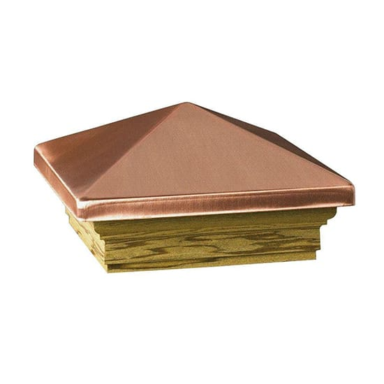DeckoRail Verona 4 in. x 4 in. Copper High Point Pyramid Post Cap