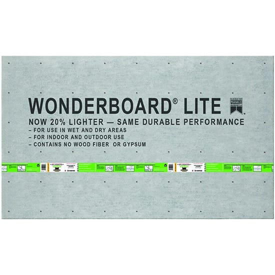 WonderBoard Lite 5 ft. x 3 ft. x 1/4 in. Backer Board  (Drywall)