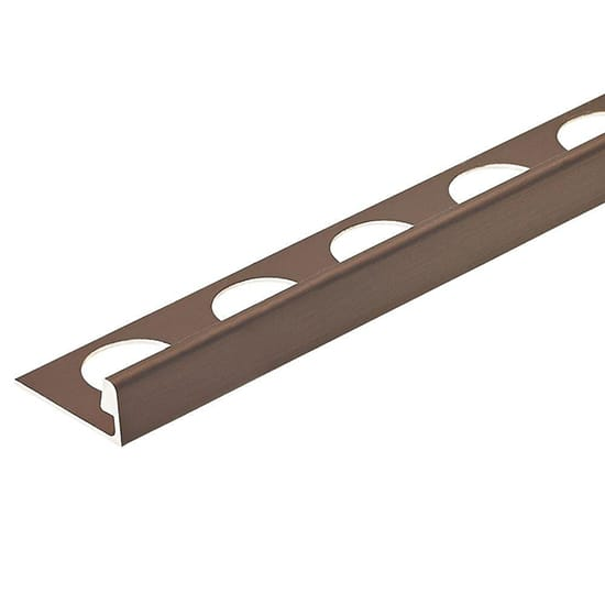 Custom Building Products Brushed Antique Bronze Anodized 3/8 in. x 98-1/2 in. Aluminum L-Shaped Tile Edging Trim