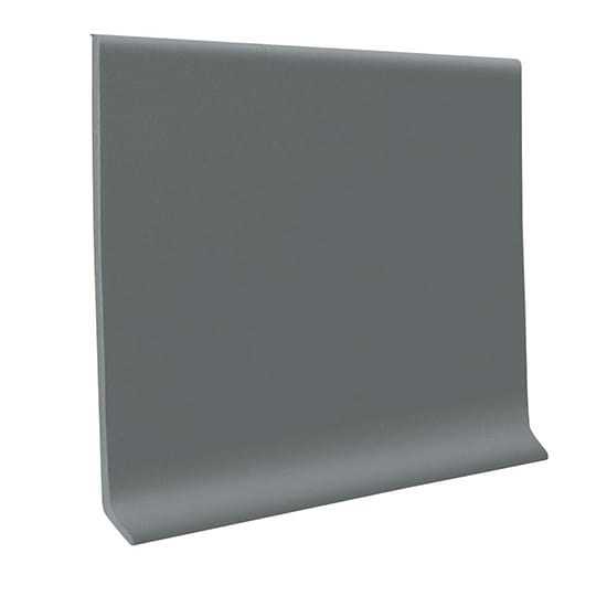 WALLBASE Dark Gray 4 in. x 48 in. x 0.080 in. Vinyl Laminate Wall Cove Base