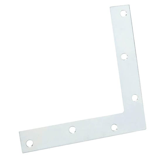 8 in. Steel Zinc-Plated Flat Corner Brace