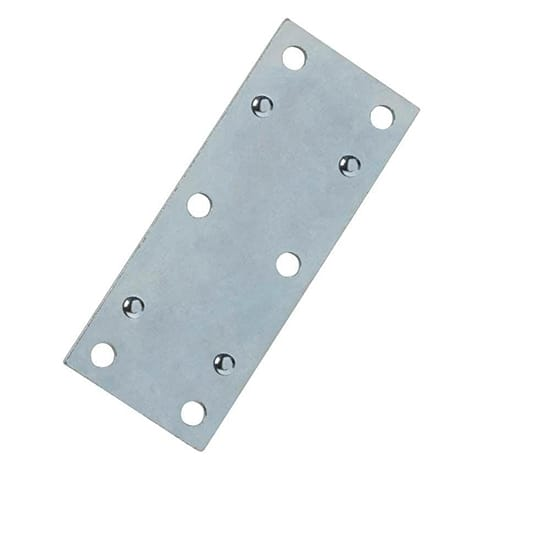 3-1/2 in. Steel Zinc-Plated Double-Wide Mending Plate (4-Pack)
