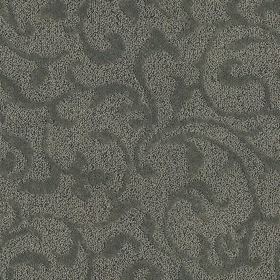 LifeProof Swirling Vines - Color Feather Beige Pattern 12 ft. Carpet