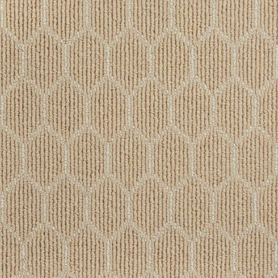 Natural Harmony Entanglement Flax/Ivory Custom Rug with Pad