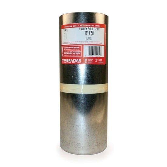14 in. x 50 ft. Galvanized Steel Roll Valley Flashing