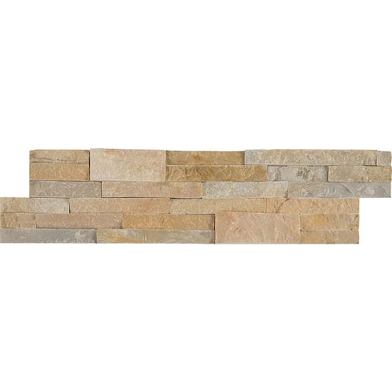 MSI Golden Honey Ledger Panel 6 in. x 24 in. Natural Quartzite Wall Tile (6 sq. ft. / case)