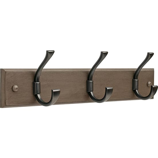 Liberty Ruavista 18 in. Gray and Soft Iron Hook Rack