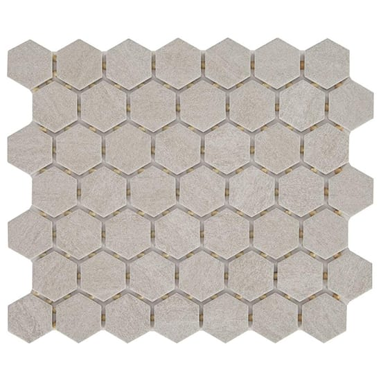Daltile Nova Falls Gray 10 in. x 12 in. x 6.35mm Ceramic Hexagon Mosaic Floor and Wall Tile (0.81 sq. ft. / piece)