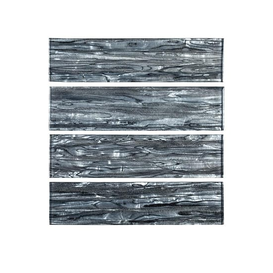 Jeffrey Court Abalone Gray 3 in. x 12 in. Glossy Glass Wall Tile (1 sq. ft. / pack)