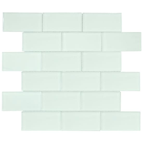 Jeffrey Court Siberian Gloss 11.625 in. x 11.75 in. x 8 mm Glass Mosaic Tile