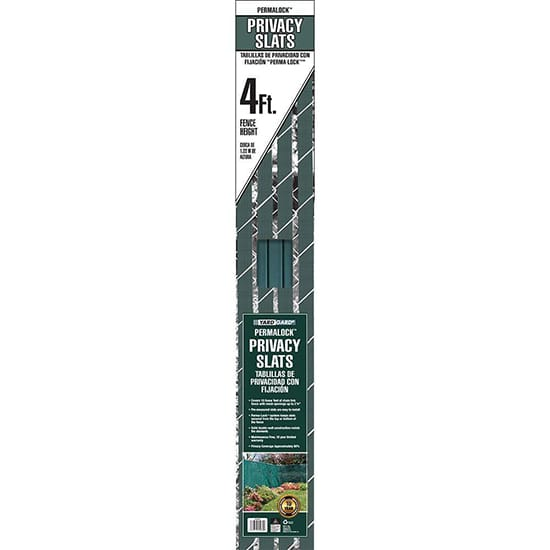 YARDGARD 4 ft. H x 10 ft. W Green Perma-Lock Double Wall Privacy Slats