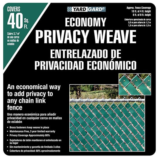 YARDGARD 4 ft. H x 250 ft. W Green Economy Vinyl Fence Weave
