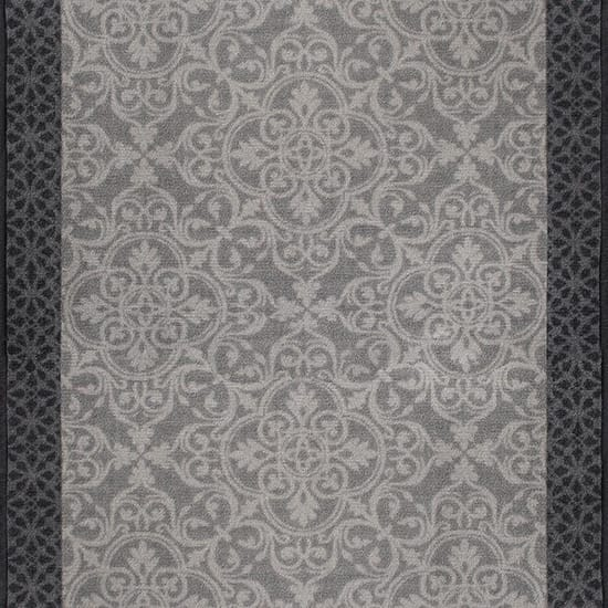 Derbent Grey 3 ft. x Your Choice Length Roll Runner