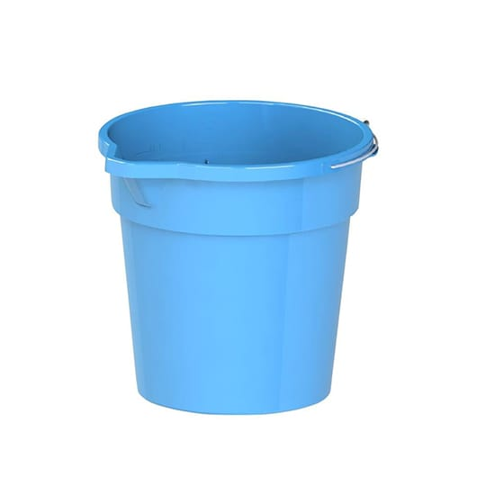 HDX 14 qt. Round Plastic Bucket with Steel Handle