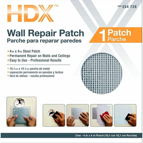 4 in. x 4 in. Drywall Wall Repair Patch
