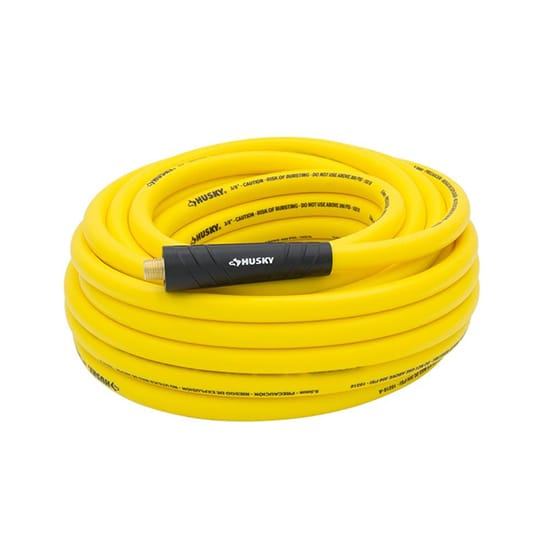 Husky 1/4 in. Hybrid Air Hose ,Yellow