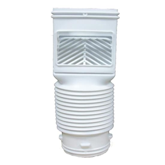 Flex Grate White Downspout Filter