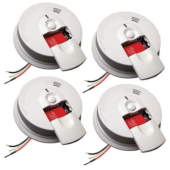 Kidde Firex Hardwire Smoke Detector With 9v Battery Backup And