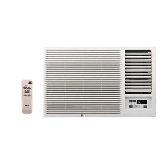LG Electronics 12,000 BTU 230/208-Volt Window Air Conditioner with Cool, Heat and Remote in White