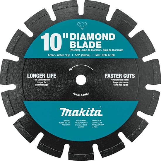 Makita 10 in. Segmented Rim Dual Purpose Diamond Blade