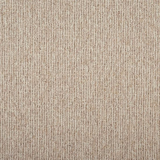 Natural Harmony Tidal Tweed Natural Custom Area Rug with Pad