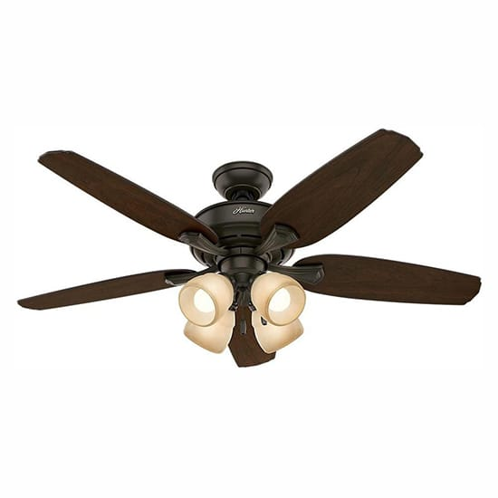 Hunter Channing 52 in. LED Indoor New Bronze Ceiling Fan with Light Kit