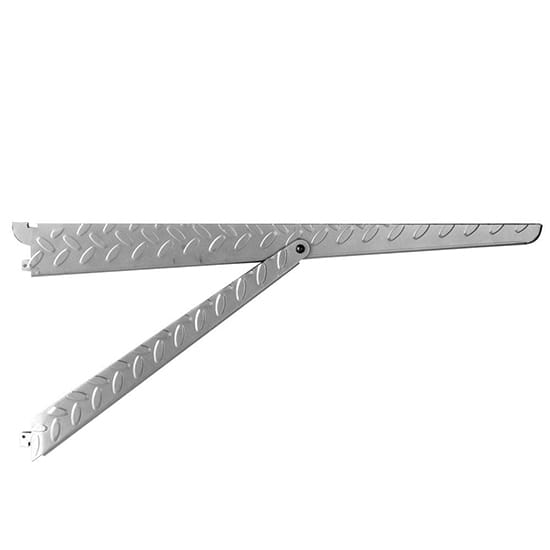 Knape & Vogt Heavyweight Diamond Plate 20 in. x 9.37 in. 500 lb. Platinum Shelf Bracket