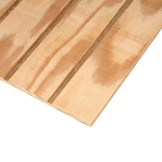 Plywood Siding Panel T1-11 4 IN OC (Nominal: 11/32 in. x 4 ft. x 8 ft.; Actual: 0.313 in. x 48 in. x 96 in.)