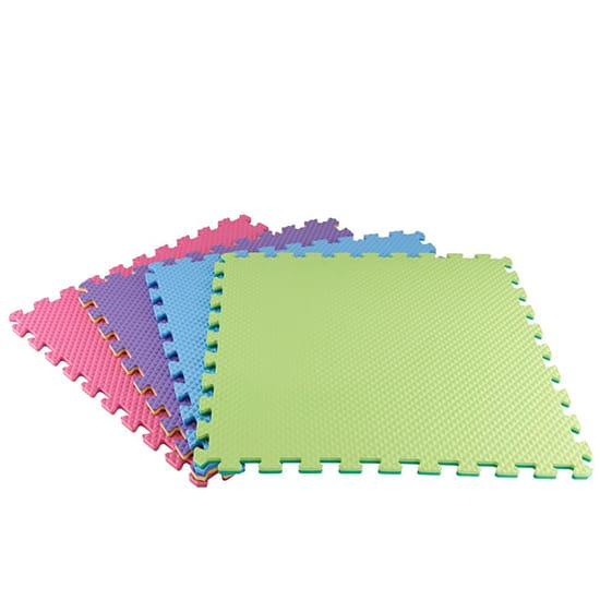 TrafficMASTER Primary Pastel 24 in. x 24 in. x 0.47 in. Playroom Floor (4-Pack)