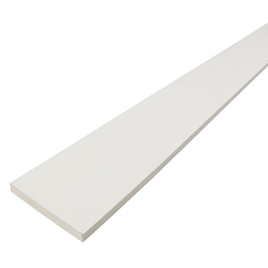 PrimeLinx 1 in. x 4 in. x 12 ft. Radiata Pine Finger Joint Primed Board