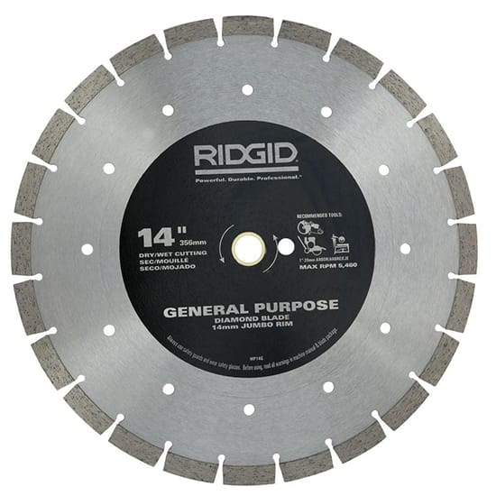 RIDGID 14 in. Segmented High-Rim Diamond Blade
